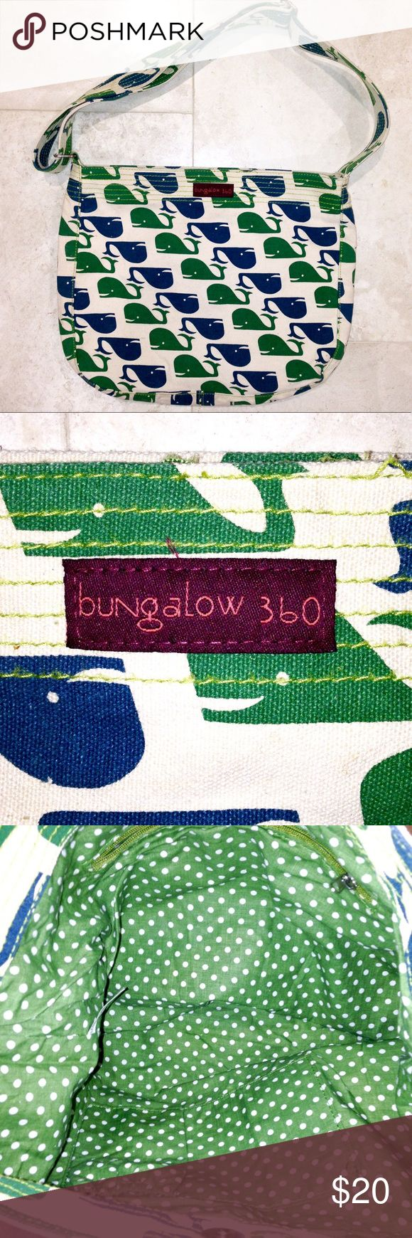 💥CLEARANCE!!!💥▪️Bungalow 360 Purse▪️ ✔️10% OFF Bundles Plus FREE SHIPPING!✔️ Bungalow 360 Purse in VERY GOOD condition. Super cute whale design on a canvas bag. No rips, tears or stains. My prices fluctuate often for sales & specials, so catch your favorite items when prices are low. Thank you for shopping my closet. Mahalo!🤙🏼♥️ Bungalow 360 Bags