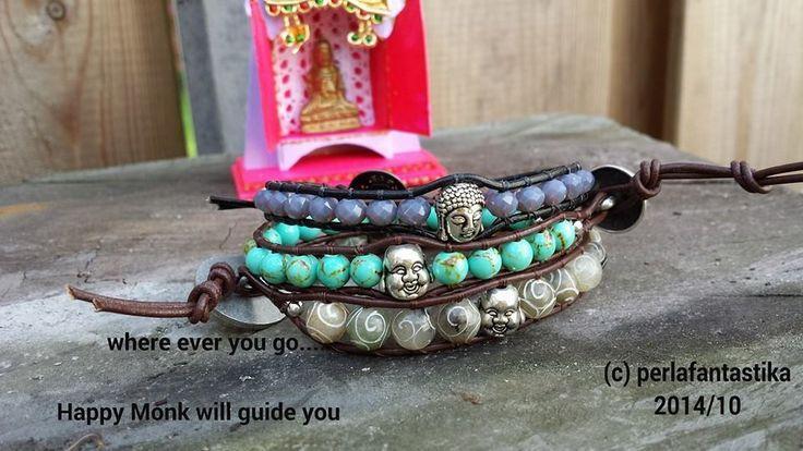 Happy Monk Wrapbracelet Buddha Wrapbracelet
