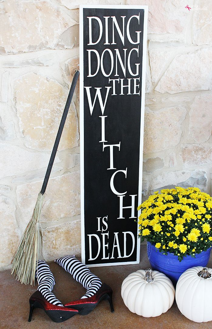 Wicked Witch Legs DIY Halloween Porch Decor Idea - So fun and festive!