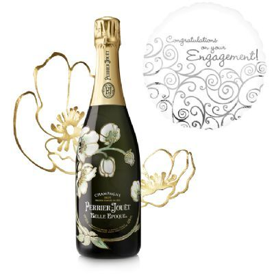 View Perrier Jouet Belle Epoque 2007 and Congratulations On Your Engagement Balloon