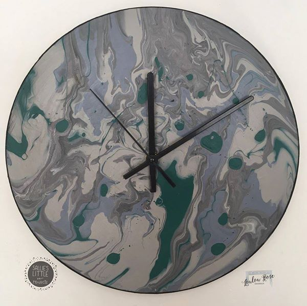 Abstract Art 12 Vinyl Wall Clocks Wanduhren Abstrakte Kunst Wohnzimmer Ideen