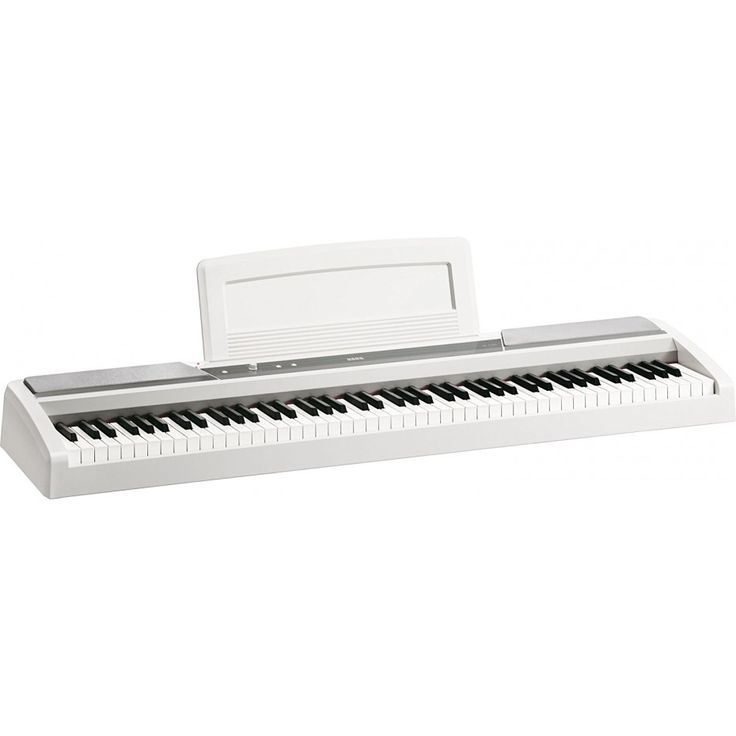 The SP-170s 88-Key Digital Piano from Korg is a high-quality slab-style digital piano that cuts out unnecessary frills to deliver pure piano sound and feeling in a clean, simple design. The keyboard has 88 keys with natural weighted hammer action and 3 levels of touch sensitivity to faithfully recreate the feel and response of an acoustic piano.