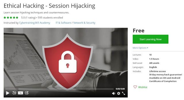 Coupon Udemy - Ethical Hacking - Session Hijacking [Free] - Course Discounts & Free
