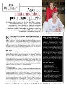 Berkeley International, une agence matrimoniale pour haut placés dans le lifestyle Magazine GG de Engel & Völkers.