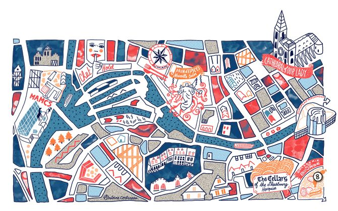 Brussel Airlines maps new! - • Antoine Corbineau • Illustration, Art & Design •