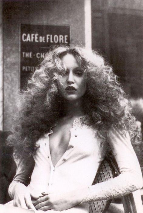Jerry Hall, model. One of Mick Jaggers former girlfriends. 1970s. @Vanessa Correa via DEAR GOLDEN