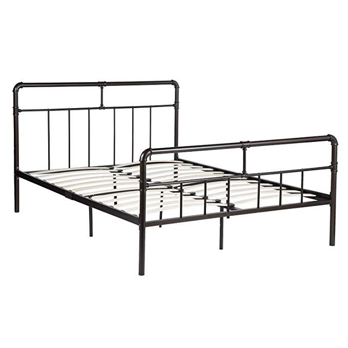 Greenforest 14inch Metal Platform Bed With High Headboard