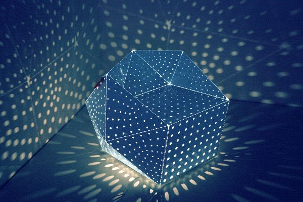 Hedronics by Lepota, Russia. Facets may be made by order.  On photo: light-transmitting facets.