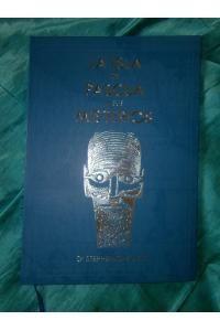 LA ISLA DE PASCUA Y SUS MISTERIOS - Reedición año 2016, a partir del original de 1935.  Disponible en inglés y en español. Portada azul verdoso, con relieve y letras plateadas, 34 x 22 x 2 cm