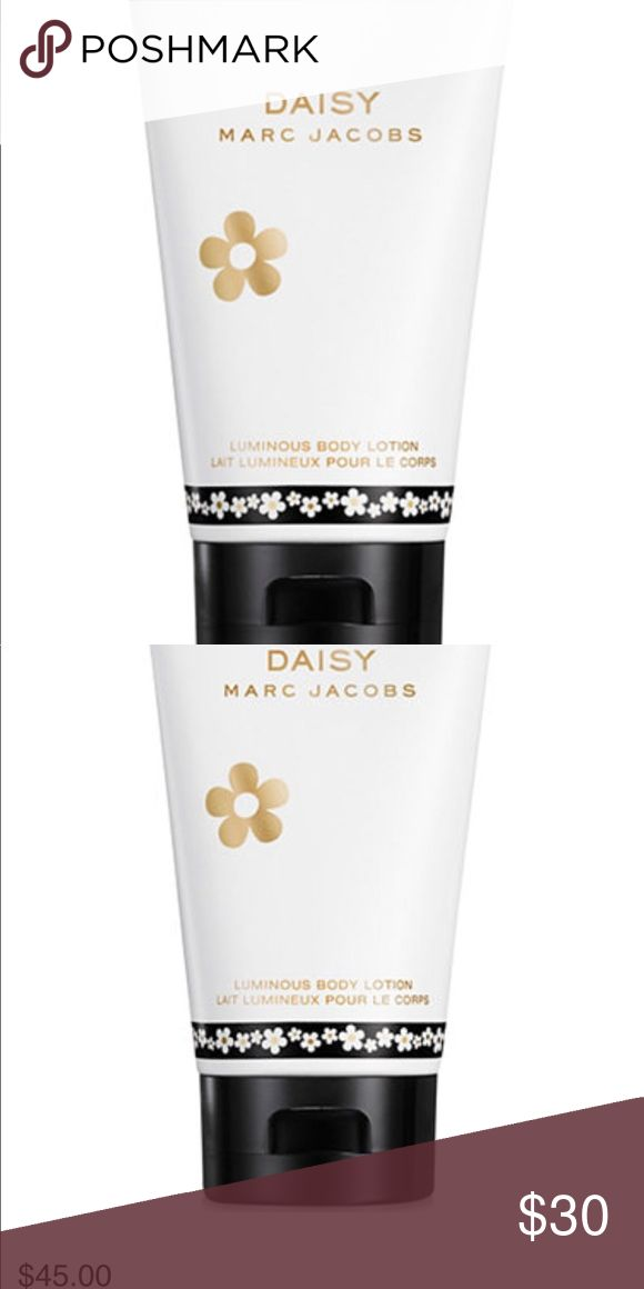 Marc Jacobs luminous body lotion Fresh and feminine.  Daisy is a sparkling floral bouquet, fresh and warm scent. A moisturizer body lotion that hydrates the skin, leaving it lightly scented.  Never overpowering.  Infused with violet leaves, wild strawberries, vanilla and jasmine.  New. Never been use or tested. Marc Jacobs Other