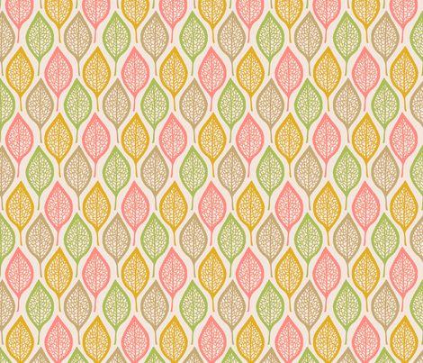 Skeleton Leaves - Pastel fabric by siya on Spoonflower - custom fabric