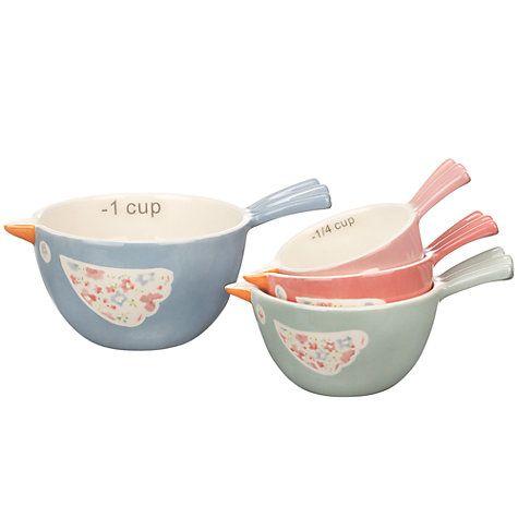 Buy John Lewis Polly's Pantry Measuring Cups, Multi Online at johnlewis.com