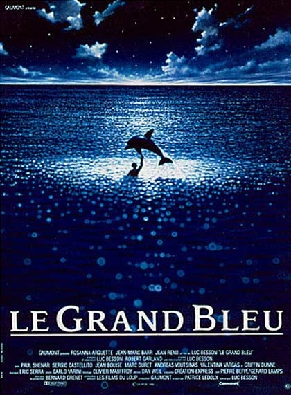 """film """"le grand bleu"""" - luc Besson?..one of these days well figure how to hang this without it costing an arm and a leg for the huge poster that it is"""