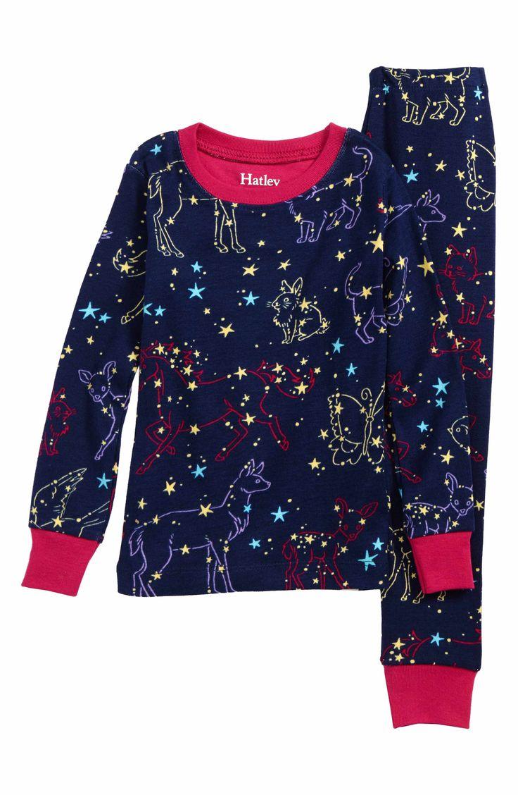 Main Image - Hatley Organic Cotton Fitted Two-Piece Pajamas (Toddler Girls, Little Girls & Big Girls)