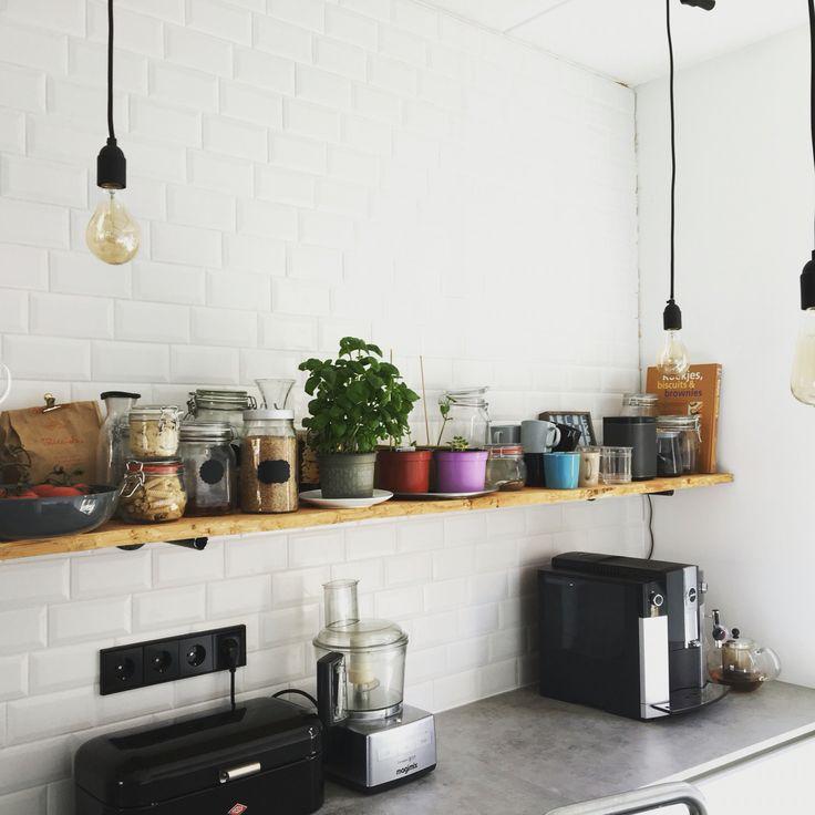 Vintage Keuken Tegels : over Witte Metro Tegels op Pinterest – Metrotegels, Tegel en Badkamer