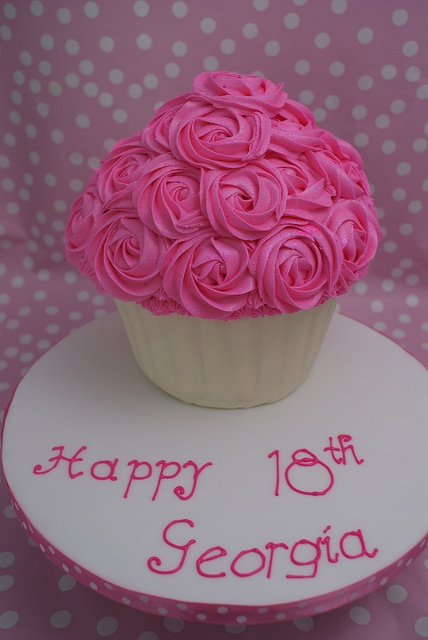 Girly Pink Giant Cupcake by Cutie Cupcakes (aka Heather)