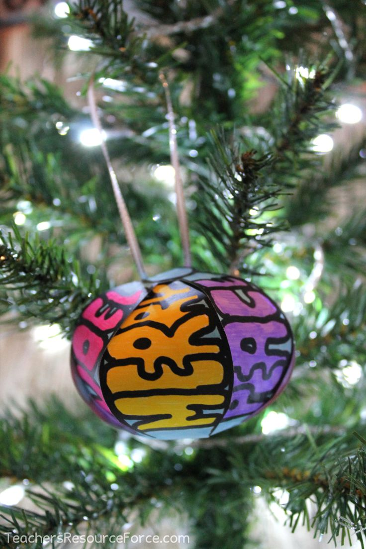 Christmas Activities for big kids: Differentiated Tree Ornament and Decoration Craftivities! @resourceforce