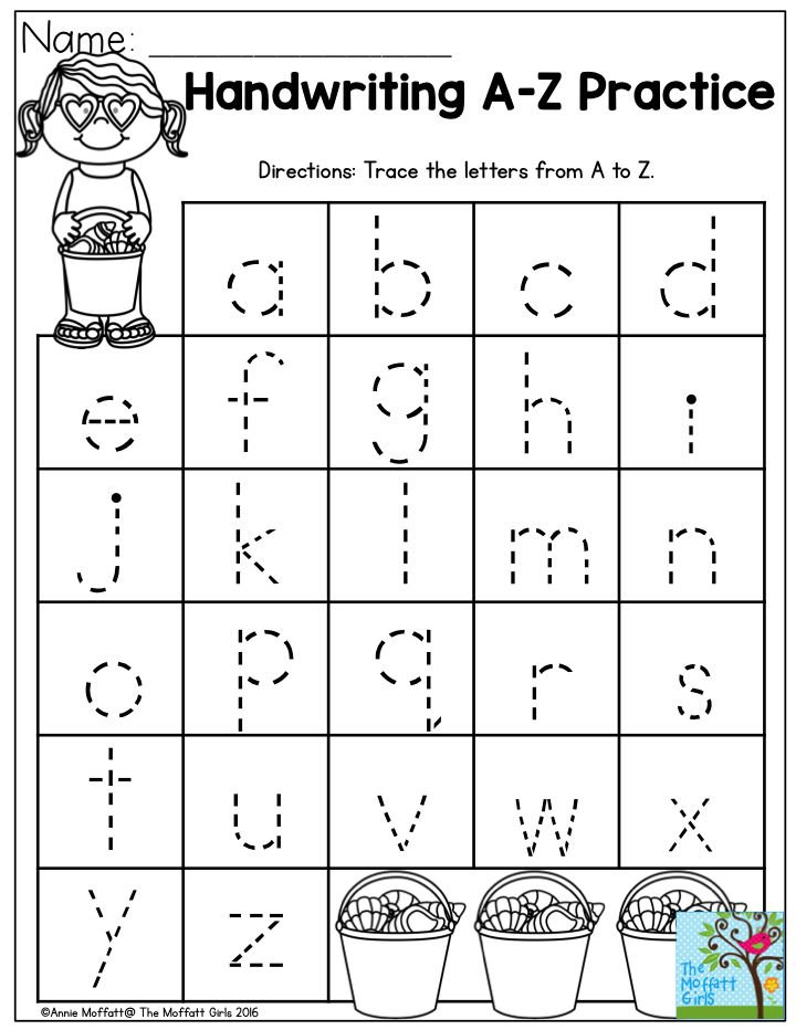 Handwriting Practice- Perfect for beginning writers! Summer Review NO PREP Packet for Preschool!