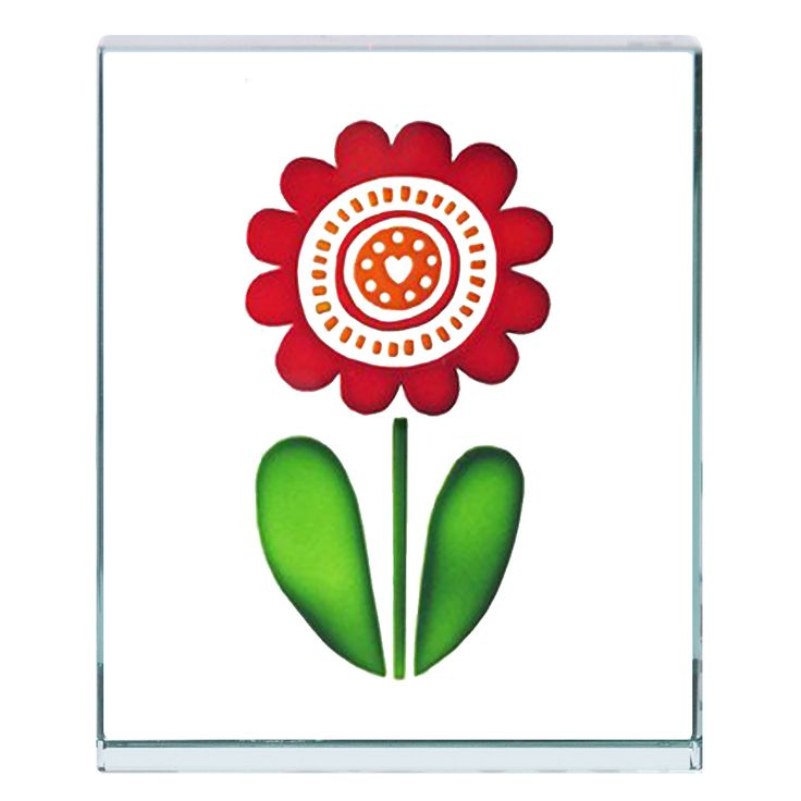Why not add a little bit of happiness by giving someone you love this little glass flower token.