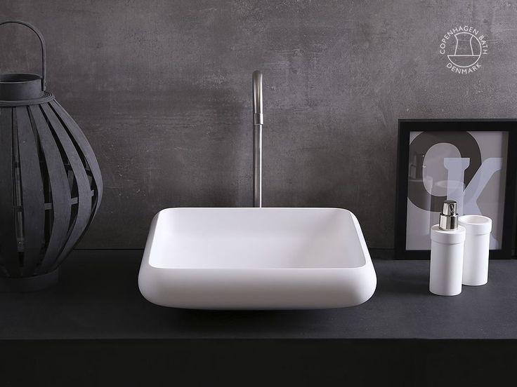 Waschbecken: Ardea 40 viereckig Waschbecken
