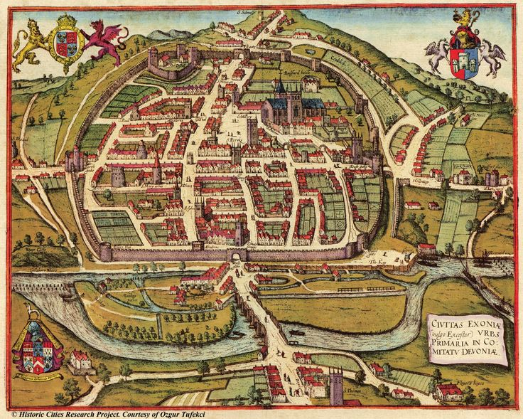 Exeter, England - 1617 - my ancestors came from East Devon - Around the Exeter area.