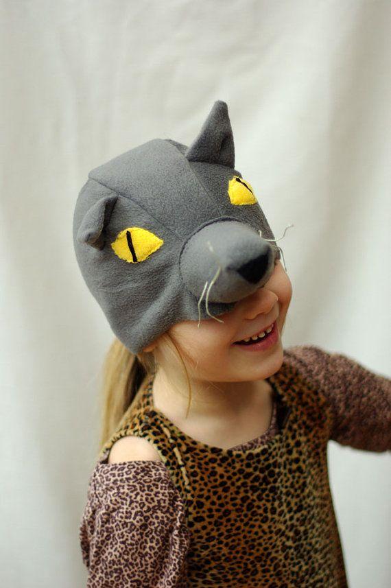 Gray wolf kids halloween costume hat,  kids costume idea by Imeloom  #costume #kids