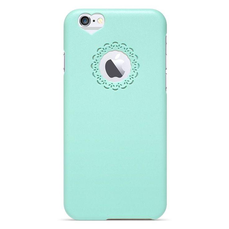 Kryt se srdcem a květinou pro iPhone 6 zelený #AllCases.cz #kryt #case #iphone #iphone6