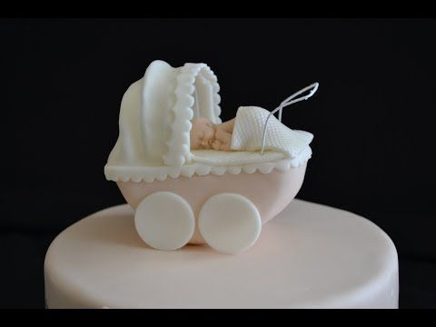 How to make baby carriage and baby for cake decorating. - YouTube