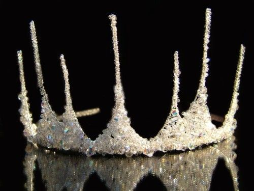 'Ice Queen Half Crown Tiara' is made with Swarovski crystals & hundreds of tiny glass beads
