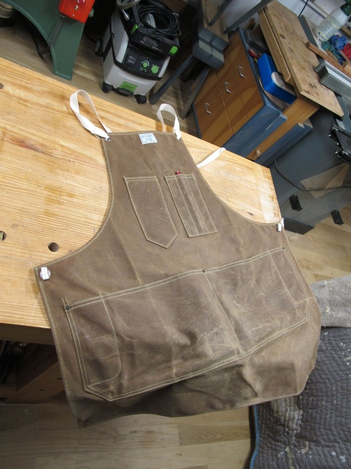 Shop Apron.  Lots of pocket, and pencil pouch