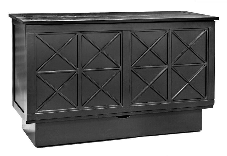 Arason Essex Creden-ZzZ Murphy cabinet bed, black. Opens to Queen. FREE delivery #Arason #transitional