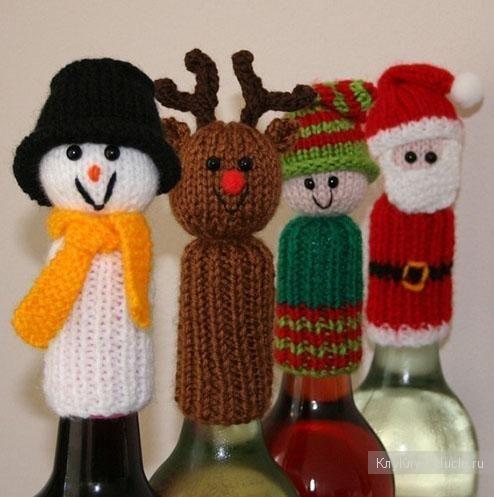 Украшение бутылок к празднику - идеи для рукоделия