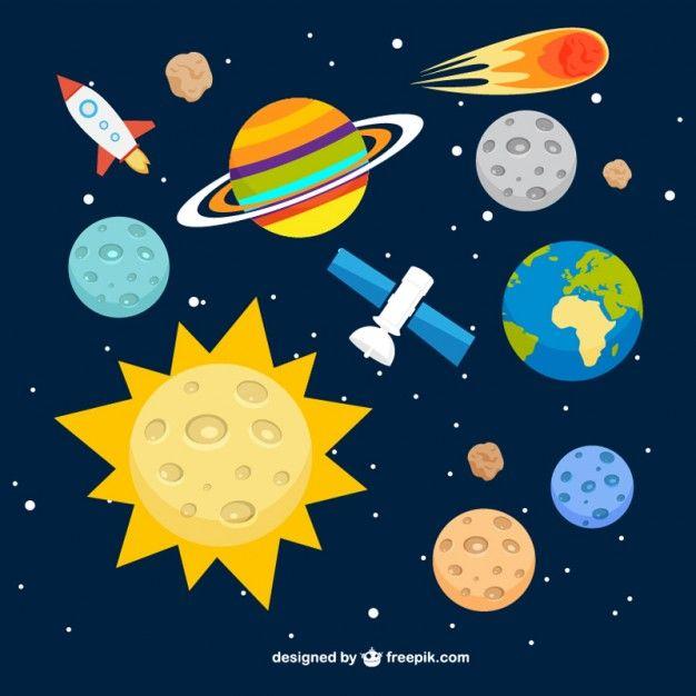 Fondo del sistema solar Vector Gratis