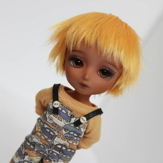Lati yellow 5-6 wig orange redhead short boy messy