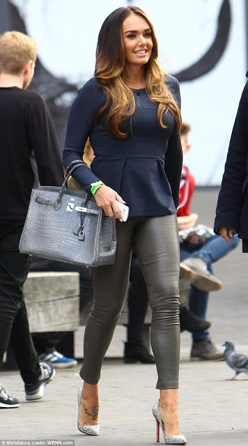 Hermes Gris 35cm Crocodile Birkin with PHW on Tamara Ecclestone