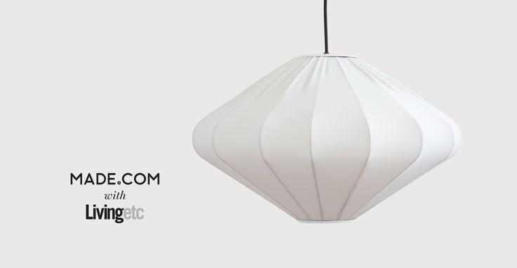 Mist Diamond Pendant Lamp, White