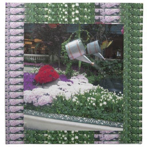 NVN12 navinJOSHI Las Vegas Butterfly Park LadyBugs Cloth Napkin