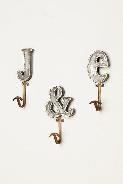 Marquee Letter Hook By Anthropologie My Style