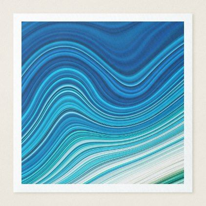 WAVES PAPER DINNER NAPKIN - home gifts ideas decor special unique custom individual customized individualized