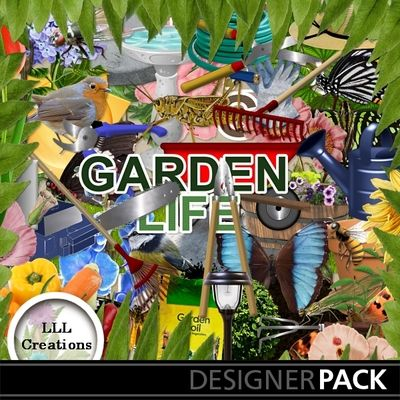 Garden Life by LLL Creations. #scrapbooking #digitalscrapbooking #garden #flowers #digiscrap #LLLCreations