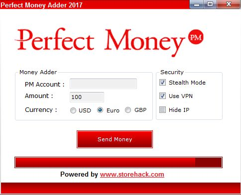 Hello everybody...today we present you Perfect Money Adder which lets you hack unlimited cash in your Perfect Money Account.
