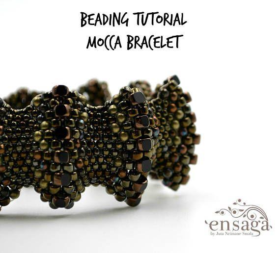 Peyote bracelet pattern Flat cellini spiral Seed bead