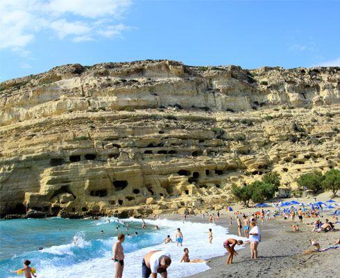 La plajă pe coasta sudică a insulei Creta