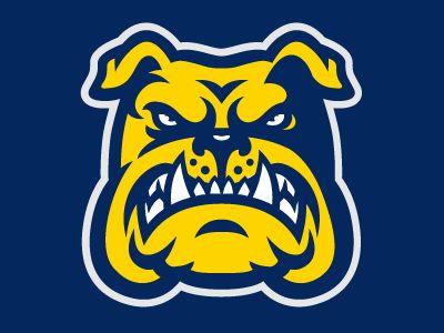 A bulldog logo design for a sports team.