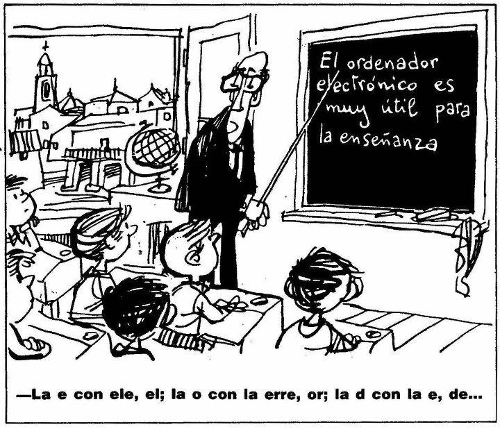"""""""El ordenador electrónico es muy útil para la enseñanza"""". Homenaje a Mingote"""
