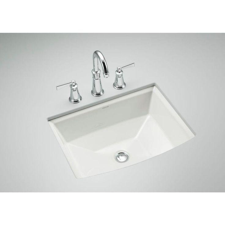 kohler archer undermount bathroom sink in whitek23550 the home
