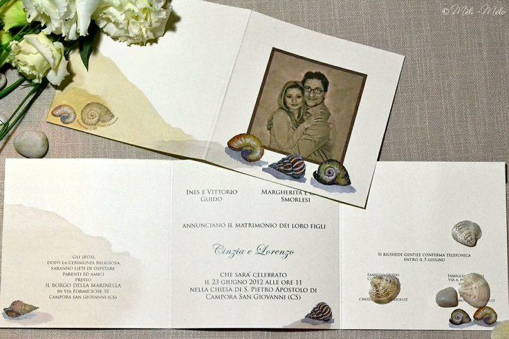 Partecipazione matrimonio by Méli-Mélo | Graphic Design - Ph: Clelia Celentano