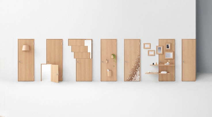 Japanese design studio Nendo's unusual and innovative take on the door to commemorate the 70th anniversary of Japanese manufacturer Abe Kogyo.