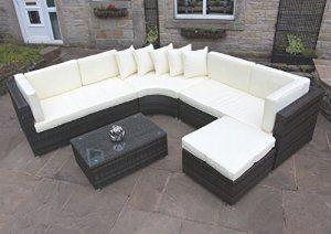 Rattan Outdoor Curved Corner Sofa Set Garden Furniture in Brown by PKL Leisure   Price:£650.00