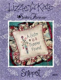 Sisters Forever cross stitch pattern by Lizzie Kate at thecottageneedle.com S37 Birthday sibling friends by thecottageneedle